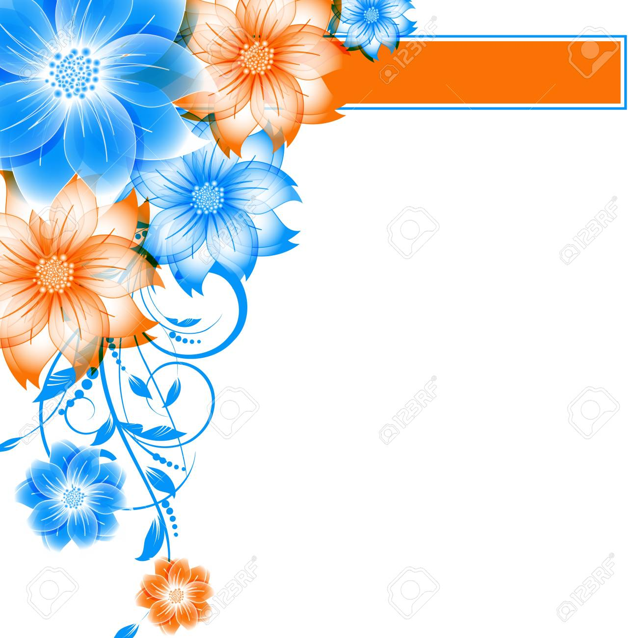abstract vector flower background Stock Vector - 17007433