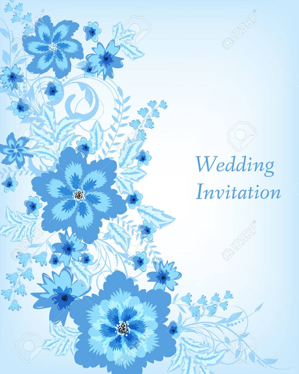 Wedding Invitation Card Flowers Abstract Colorful Background Royalty Free Cliparts Vectors And Stock Illustration Image 39721601