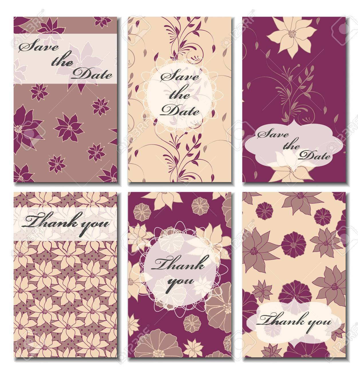 vintage vector card templates can be used for save the date