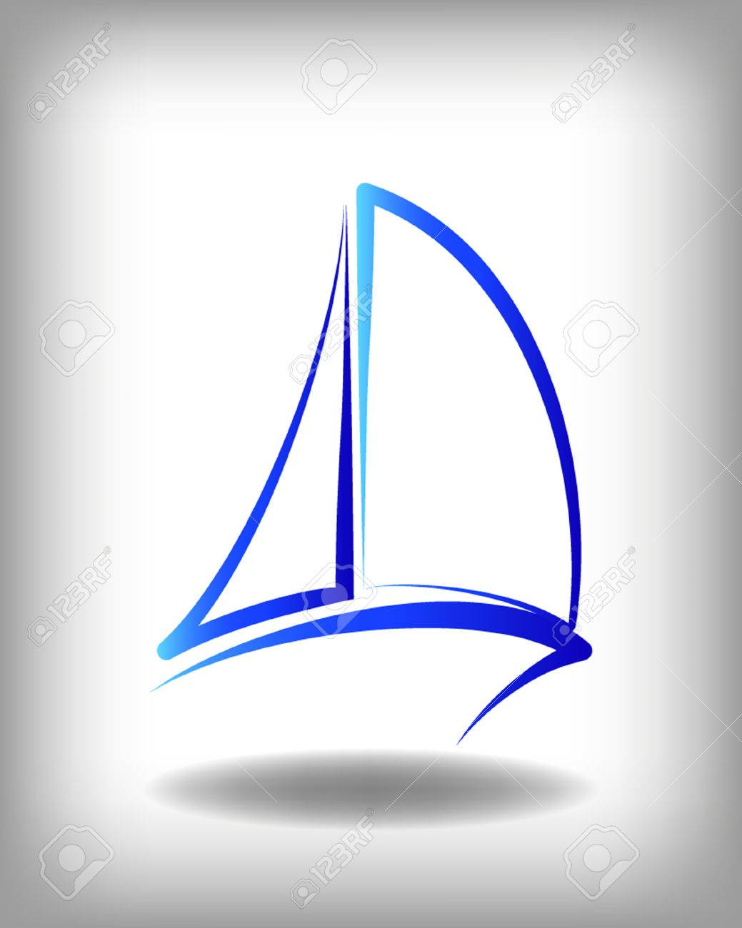 Yacht Vector Icon Templates. Yachts Silhouettes. Vector Line ...