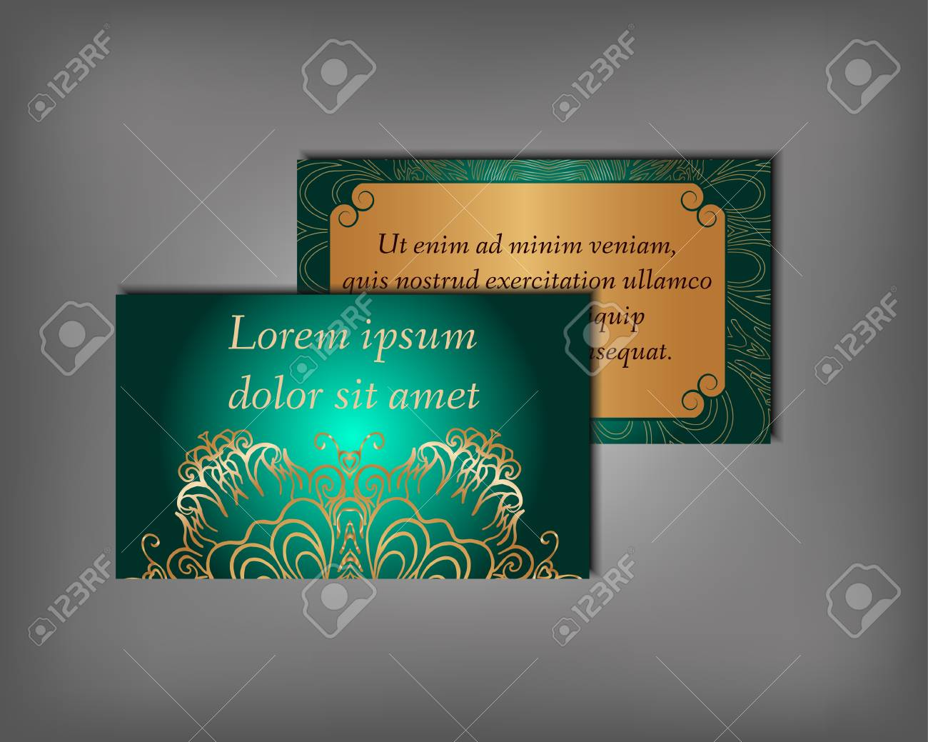 set of business invitation save the date card template abstract