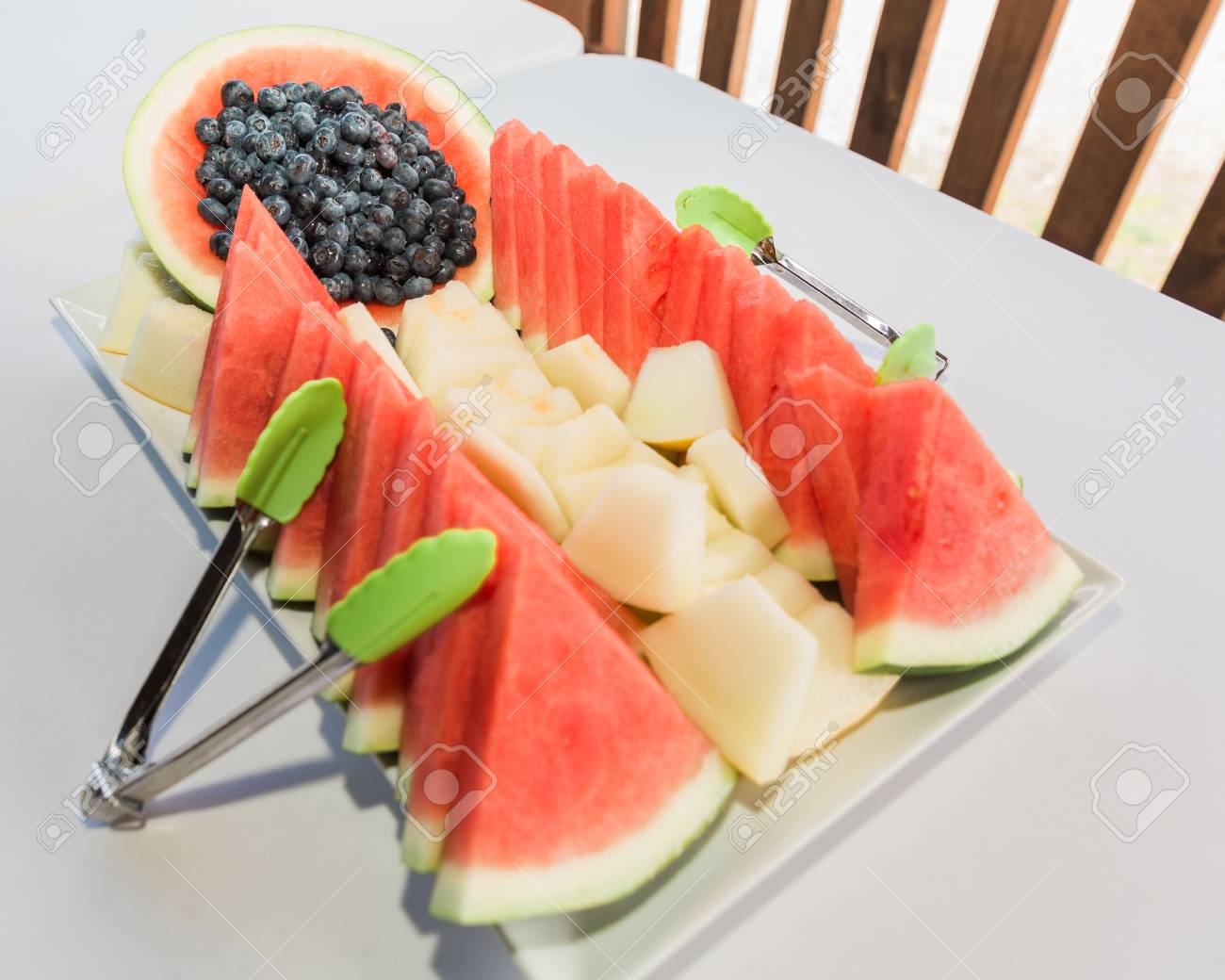 Fresh Fruit Platter Design Ideas For Banquet Or Breakfast Sliced Stock Photo Picture And Royalty Free Image Image 81764568