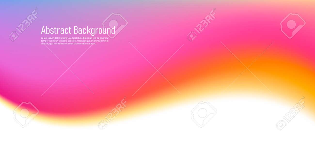 Fluid wave watercolor gradient shap, soft smooth curve graphic element, pink warm colors - 172591306