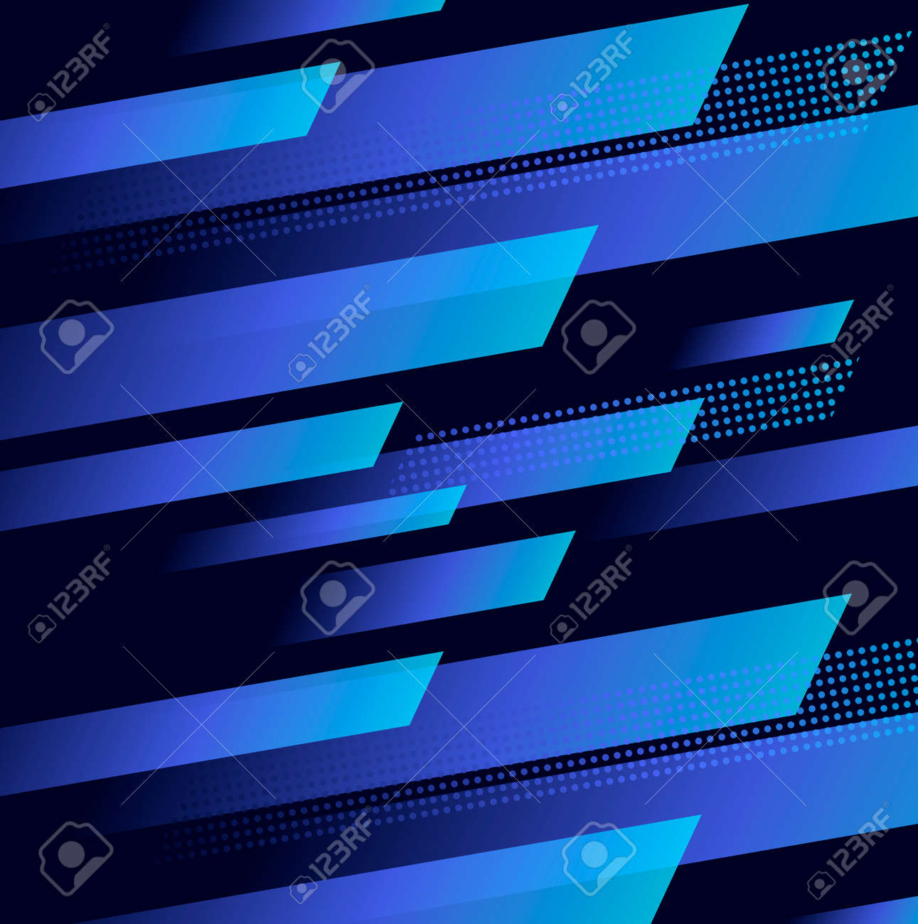 Abstract background with dynamic blue geometric shapes in motion forming graphic texture - 172500989
