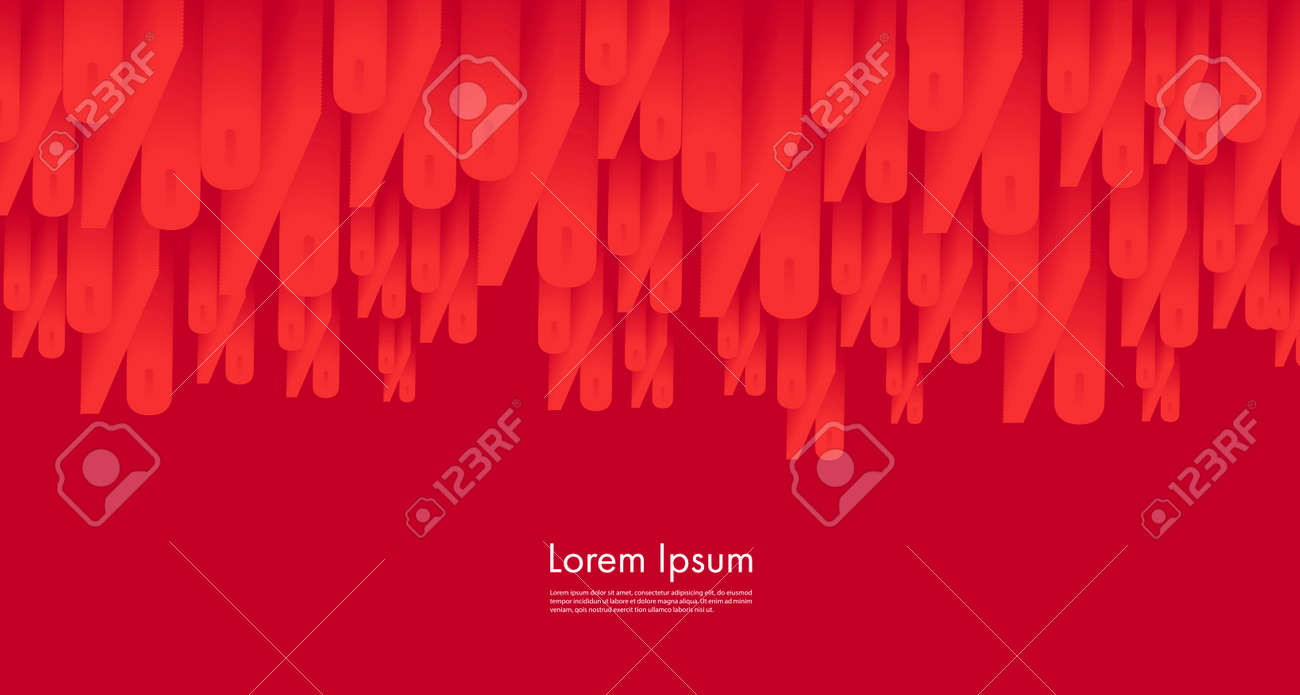 Vector illustration with red percent symbols falling down on red background, sale advertising poster backdrop, business presentation cover - 172501092