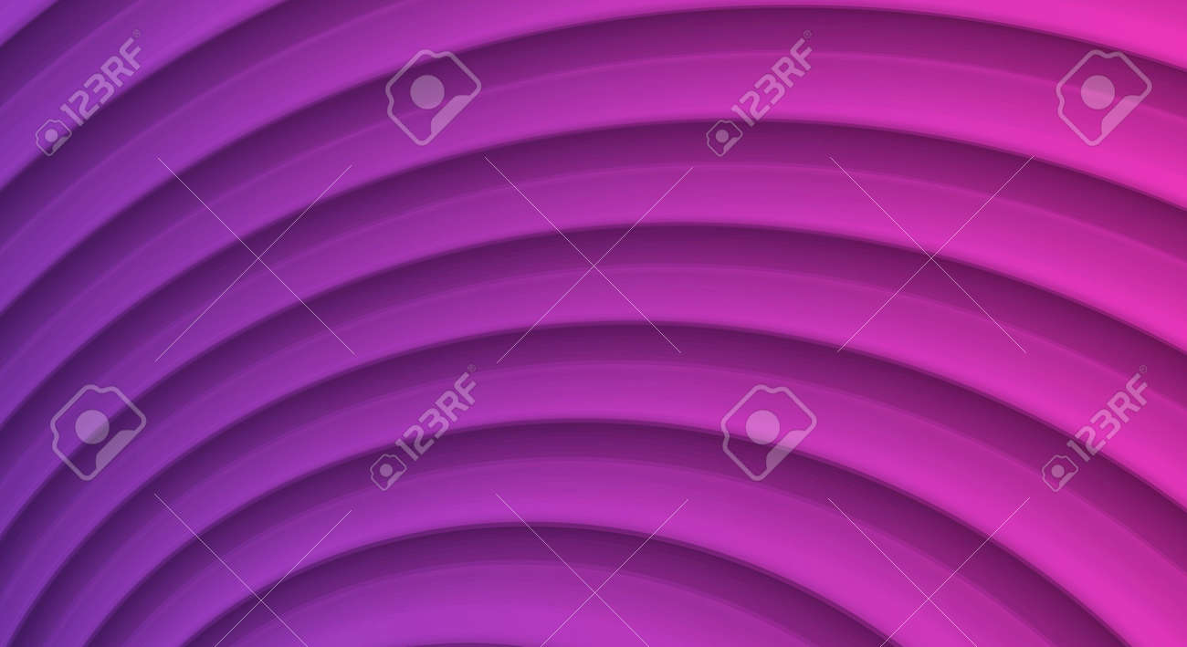 Abstract illustration with 3d waves forming layered texture in violet colors - 173869282