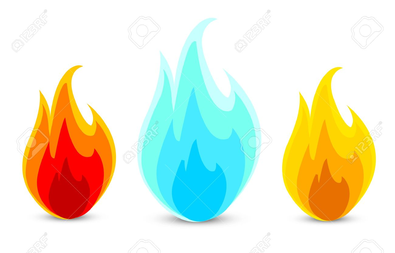 three fire icons in a vector - 5922674
