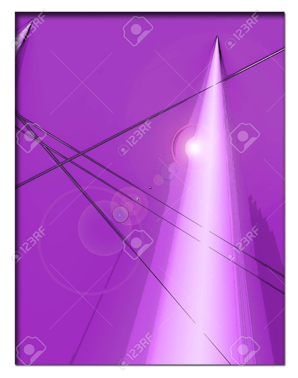 Fondo Púrpura Con Imágenes Orgánicos Y Blanco De Tiro De La Pirámide ...