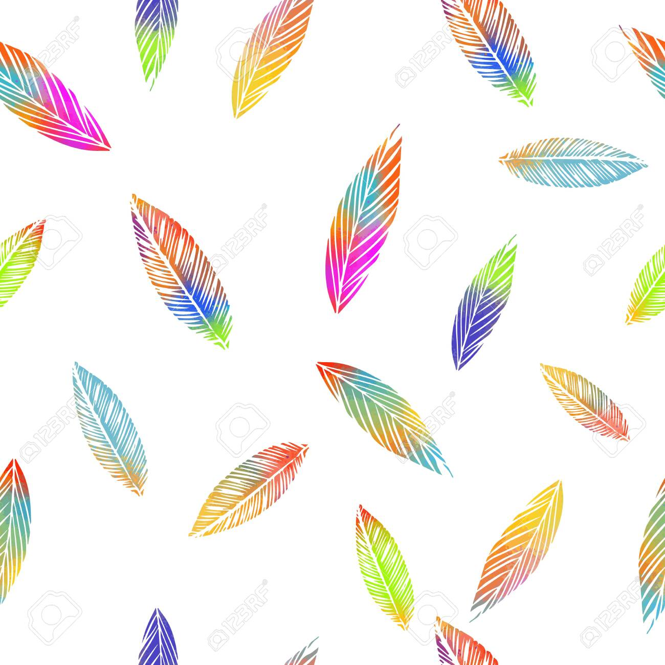 A seamless background with falling multicolored leaves. Vector illustration - 141632549