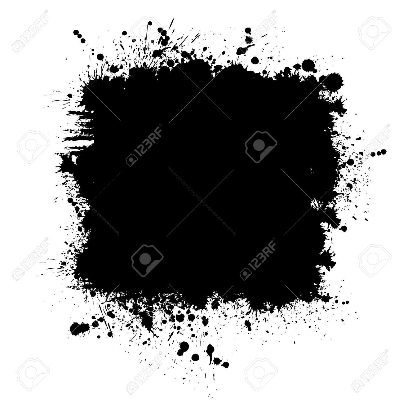 Brush stroke isolated on white background. Black paint brush. Grunge texture stroke line. Art ink dirty design. Border for artistic shape, paintbrush element. Brushstroke graphic Vector illustration - 155397595