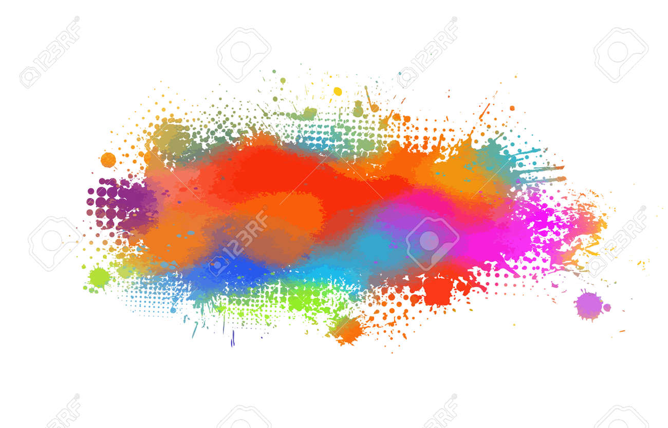 Multi color blots background. Vector illustration - 157463227