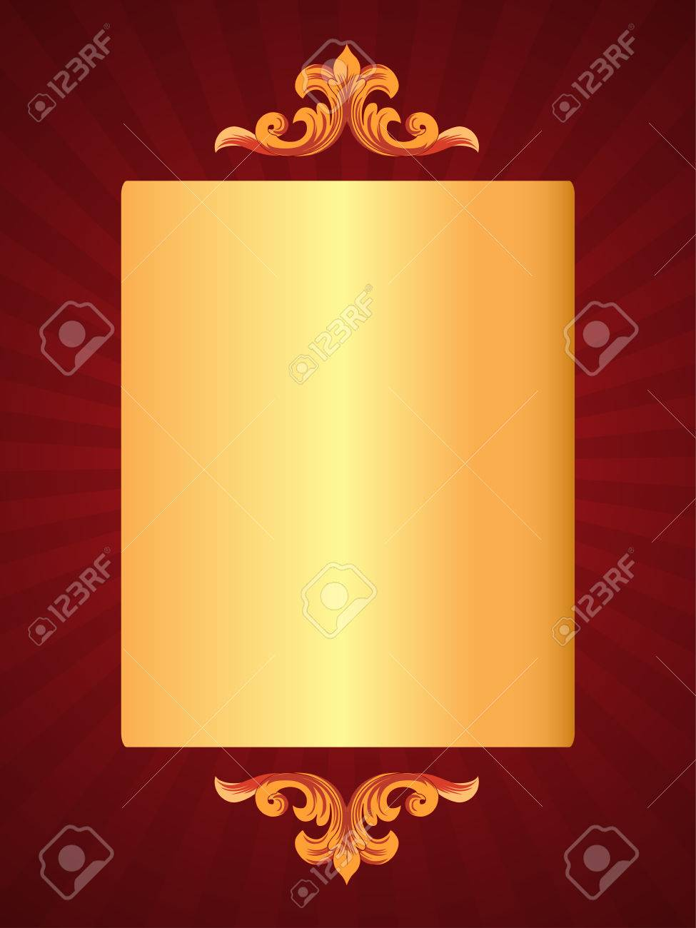 Luxury Greeting Card For Special Occasions Royalty Free Cliparts