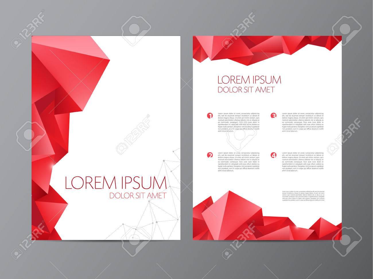 Abstract Vector Modernen Flyer Broschüre Design-Vorlagen Mit ...