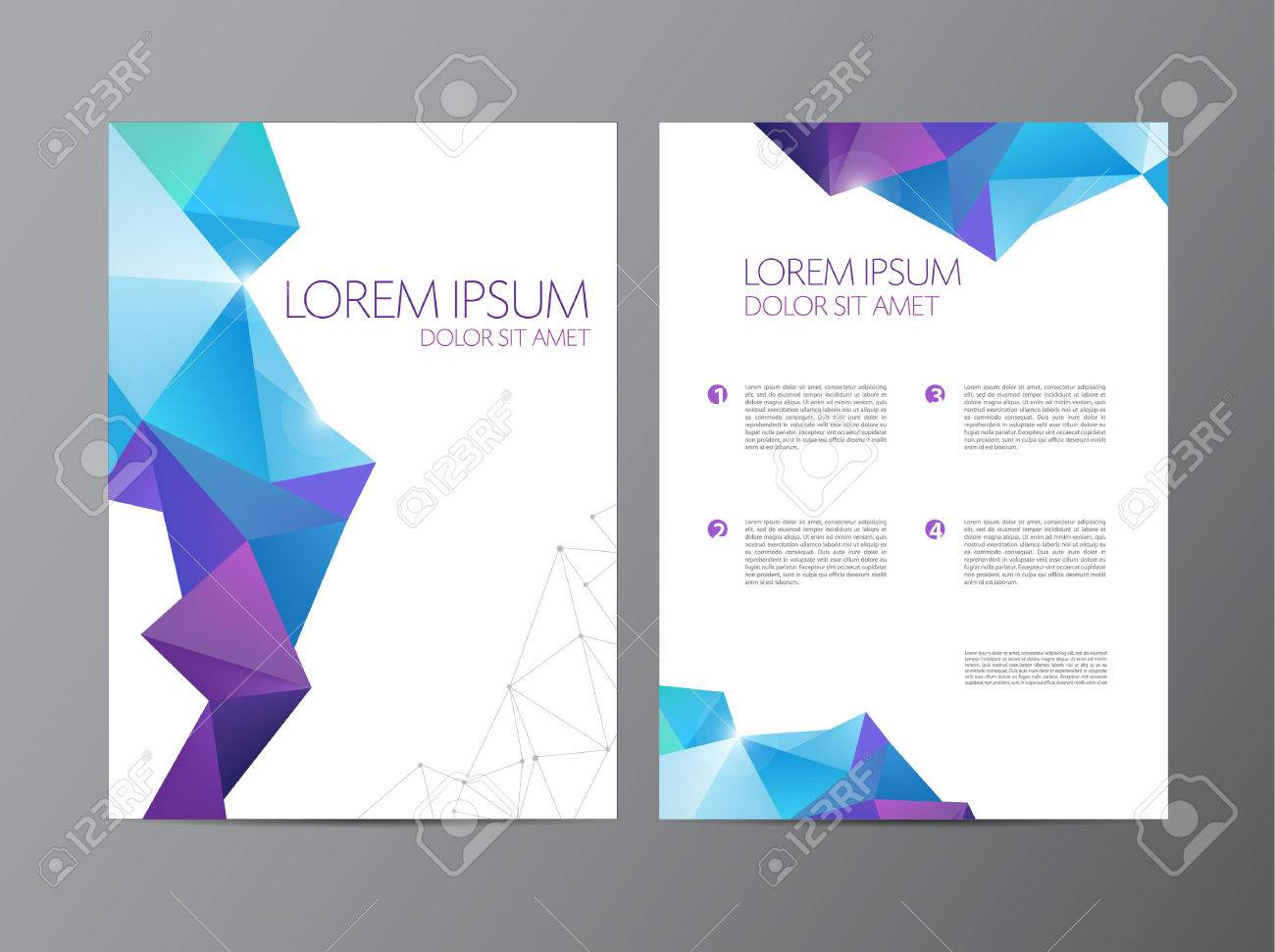 Abstract Vector Modern Flyer Brochure Design Templates With – Geometric Flyer Template