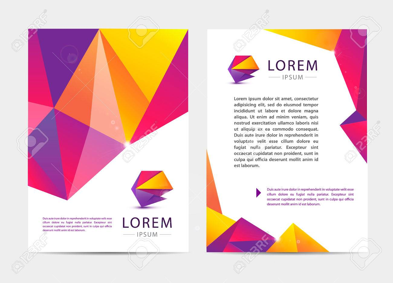 Documento Vectorial, Folleto Cubierta Carta O Estilo Del Logotipo Y ...