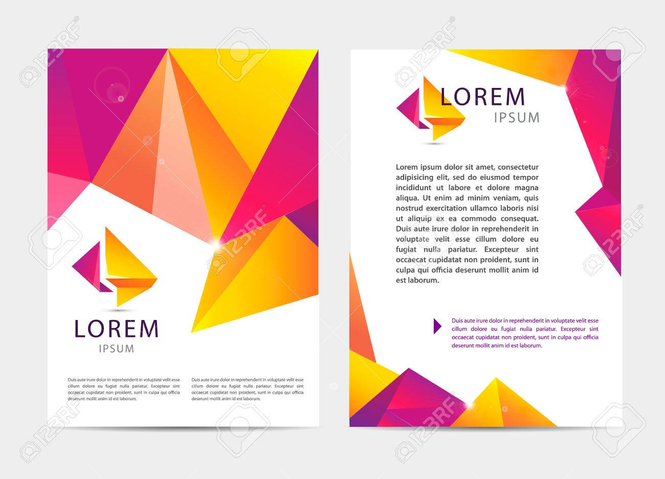 Vector Document Letter Or Logo Style Cover Brochure And Letterhead