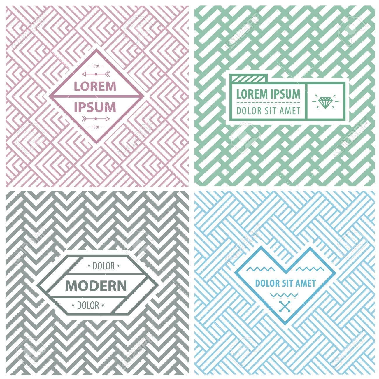 Plantillas De Diseño Gráfico Para El Logotipo, Etiquetas Y Escudos ...