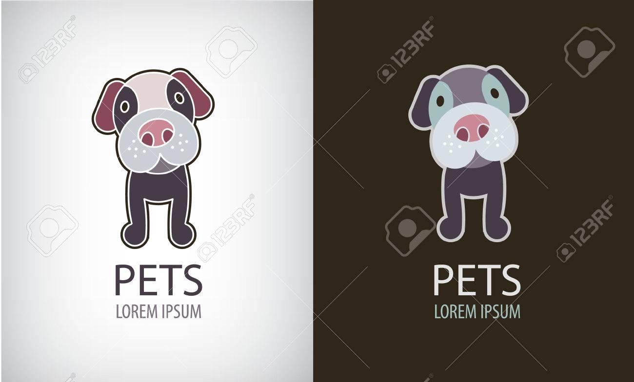 Vector set of funny cartoon dog logo, icon, illustartion. Cute puppy badge - 47401264