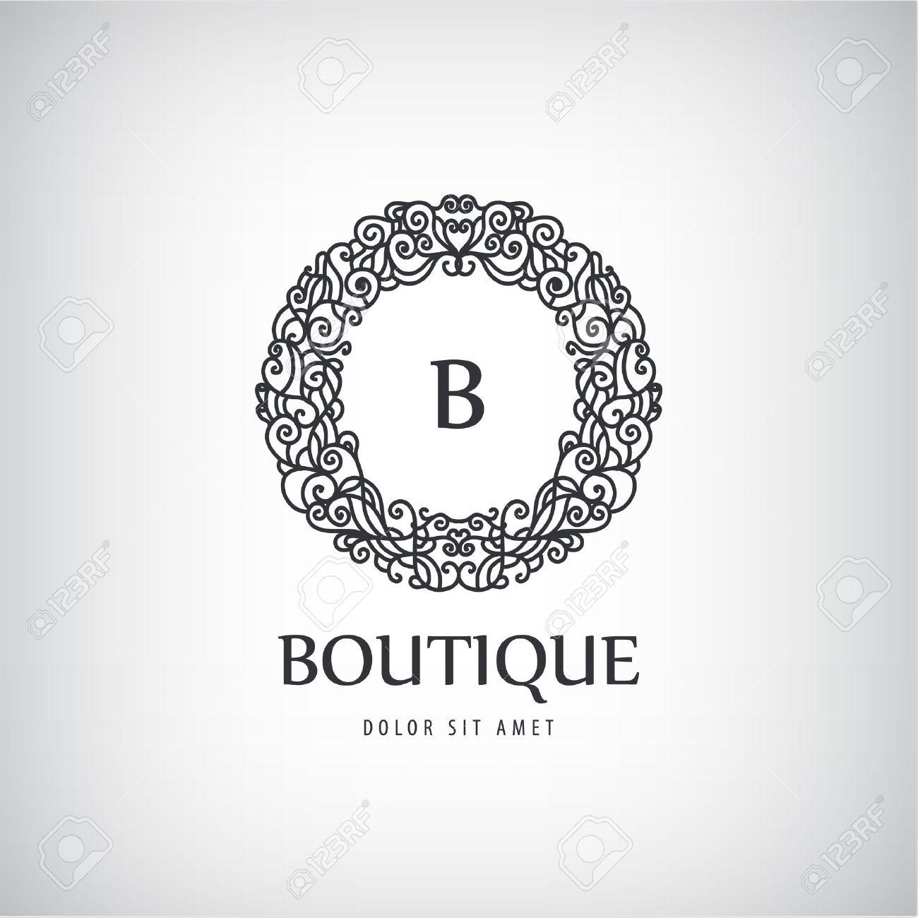 Bien-aimé Vecteur De Luxe Logo Vintage, Icône. Signe D'affaires, L'identité  OG57