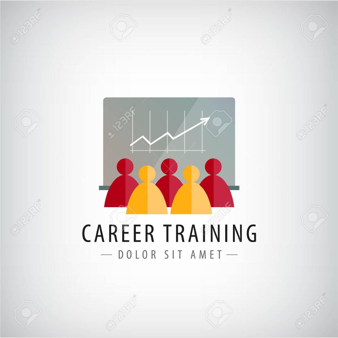 Vector career training, business meeting, teamwork logo, illustration isolated - 51519913