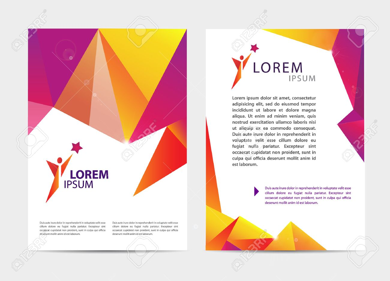 Vector Document, Letter Or Logo Style Cover Brochure And Letterhead ...