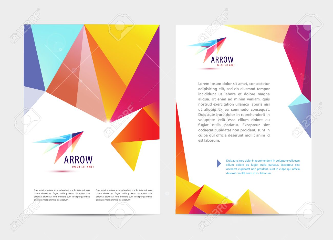 Vector document letter or logo style cover brochure and letterhead vector vector document letter or logo style cover brochure and letterhead template design mockup set for business presentations abstract arrow logo spiritdancerdesigns Image collections