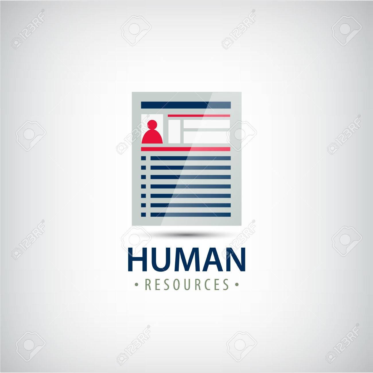 vector human resources resume career finder cv icon logo stock vector 51516647