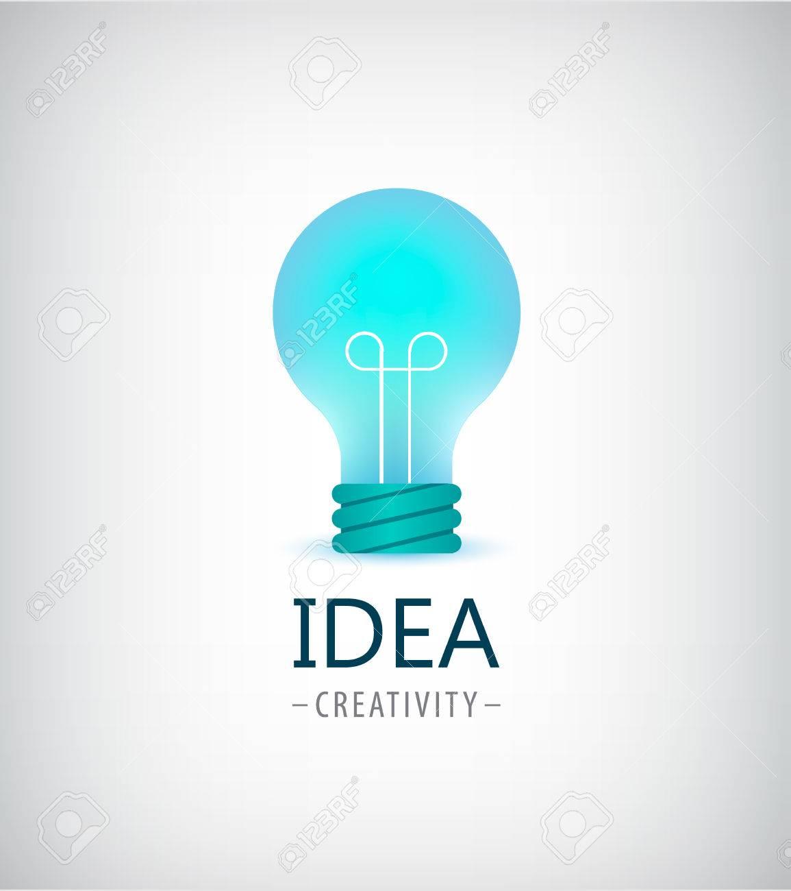 Vector   Vector Creative Idea, Light Bulb Logo, Icon Isolated