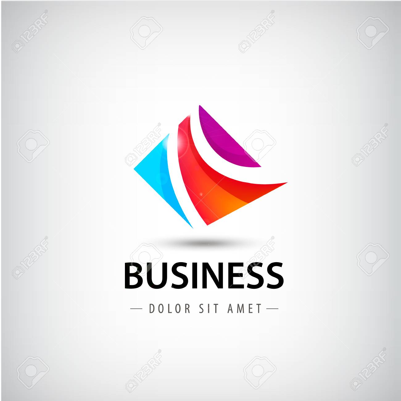 Vector Abstract Business Logo, 3 Teile, Die Einheit-Symbol ...