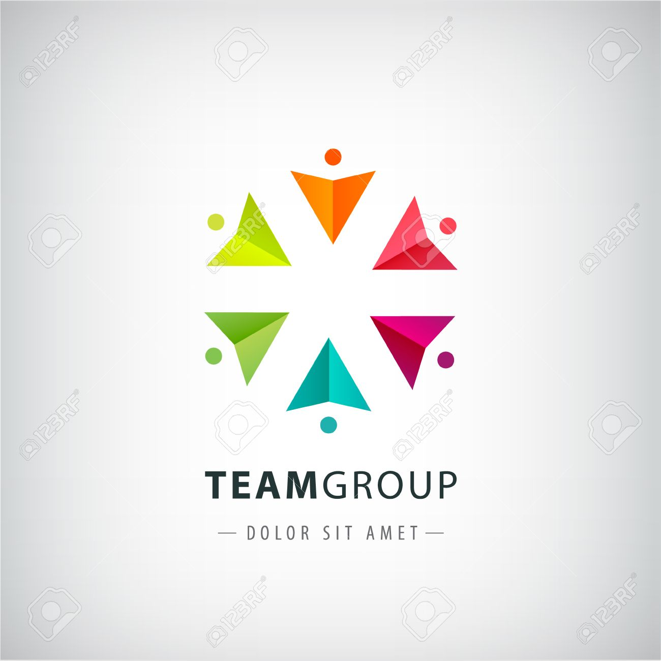 Vector Teamwork Logo Social Net People Together Icon Company