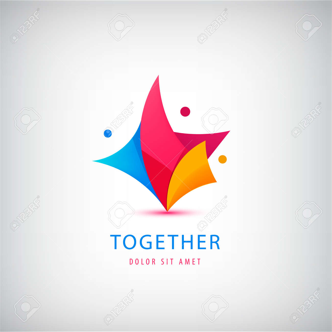 Vector3 person , teamwork. Love, support, three people together icon, concept. Hug and embrace, close friends together, child adoption, support, parent, mother, father, together - 171516334