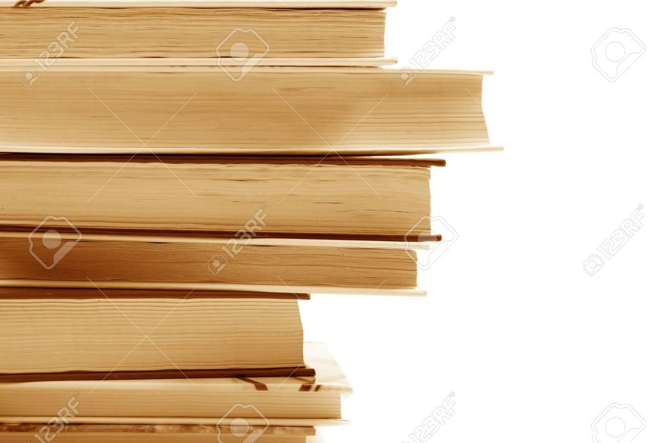 stack of books closeup. monochrome image Stock Photo - 5107142