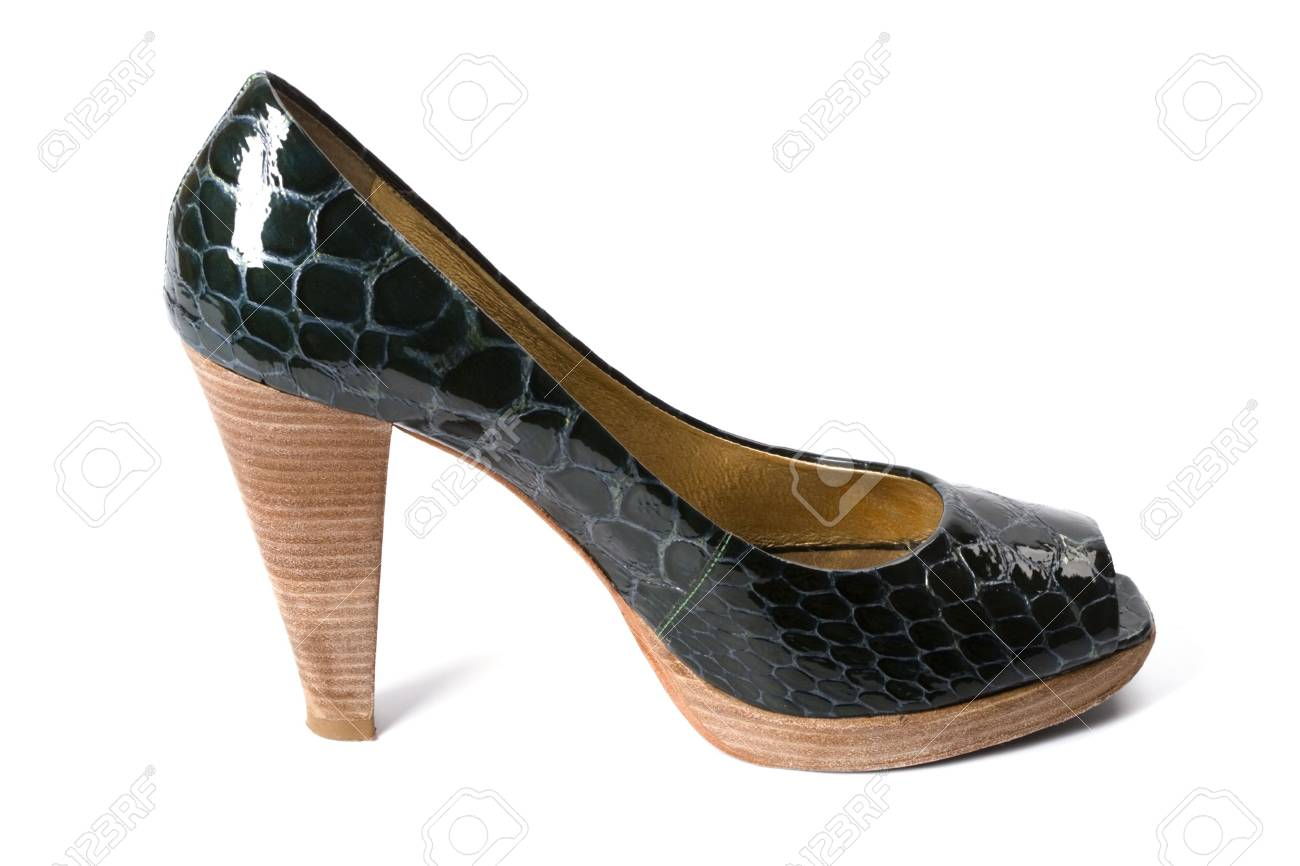 green women shoe isolated on white background Stock Photo - 6031303