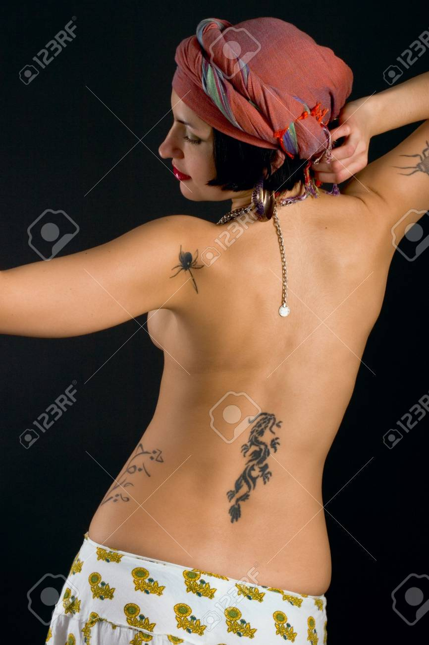 attractive asian woman on black background Stock Photo - 6038929
