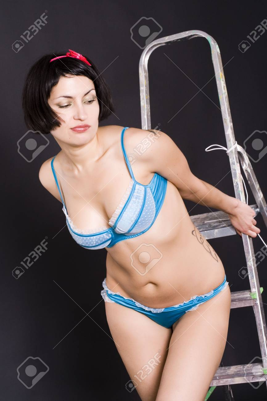 portrait of attractive pin-up girl Stock Photo - 6038925