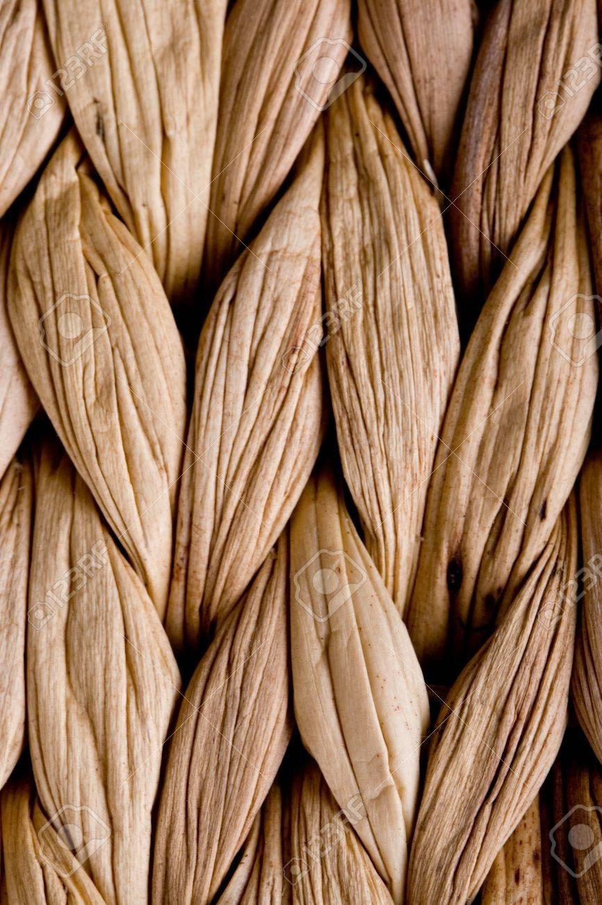straw mat background - macro image Stock Photo - 7606427