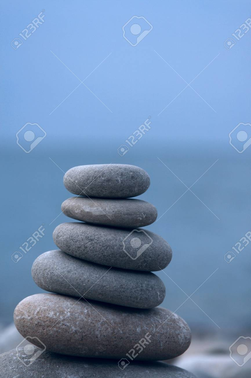 stone pyramid at the seaside Stock Photo - 12516622