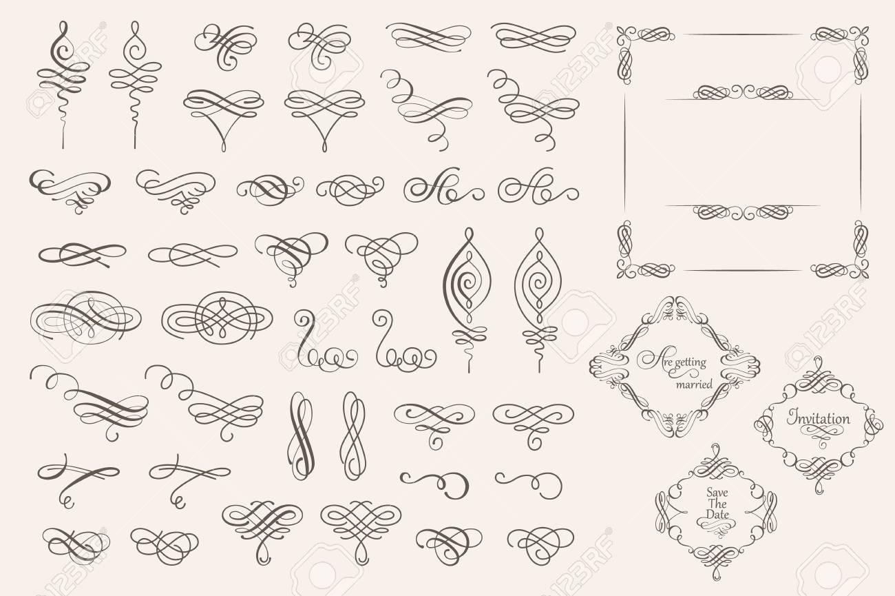 ベクター装飾的要素とページの装飾のコレクションを設定します 飾る