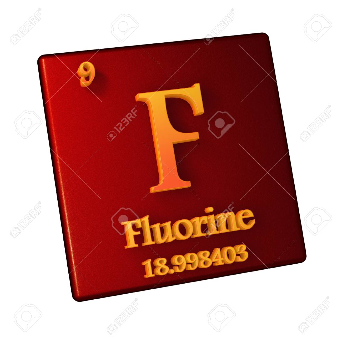 Fluorine chemical element number 9 of the periodic table of stock fluorine chemical element number 9 of the periodic table of the elements 3d illustration urtaz Choice Image