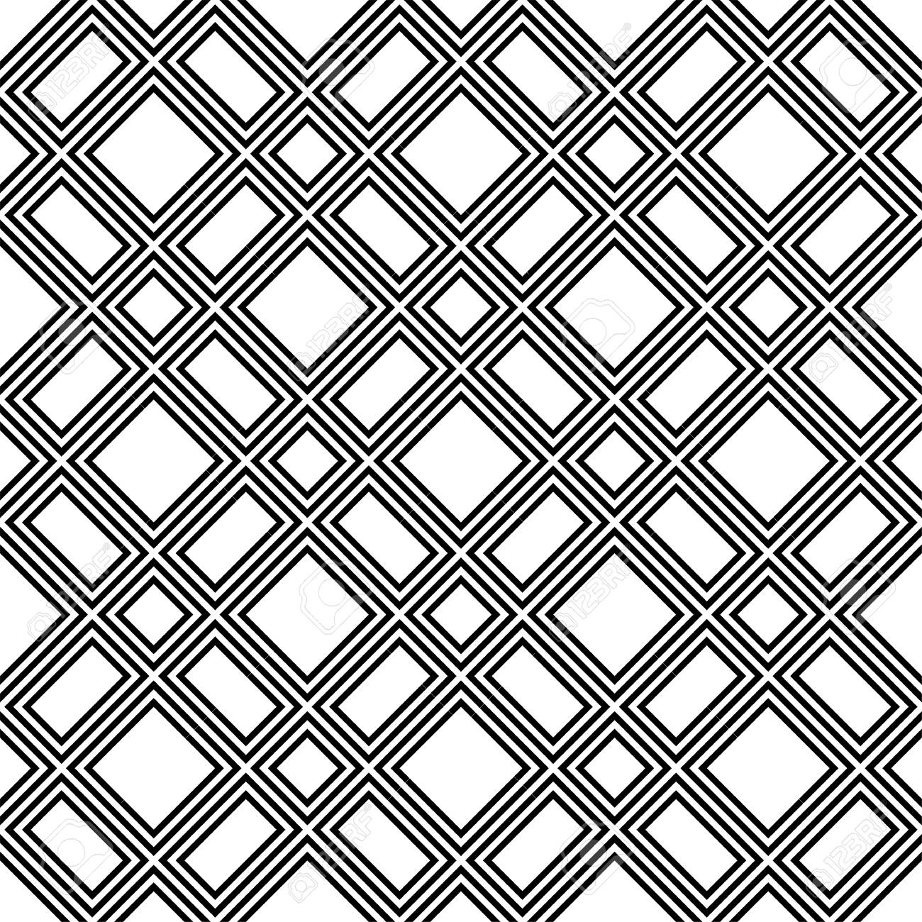 Abstract Geometric Pattern Background Black And White Seamless