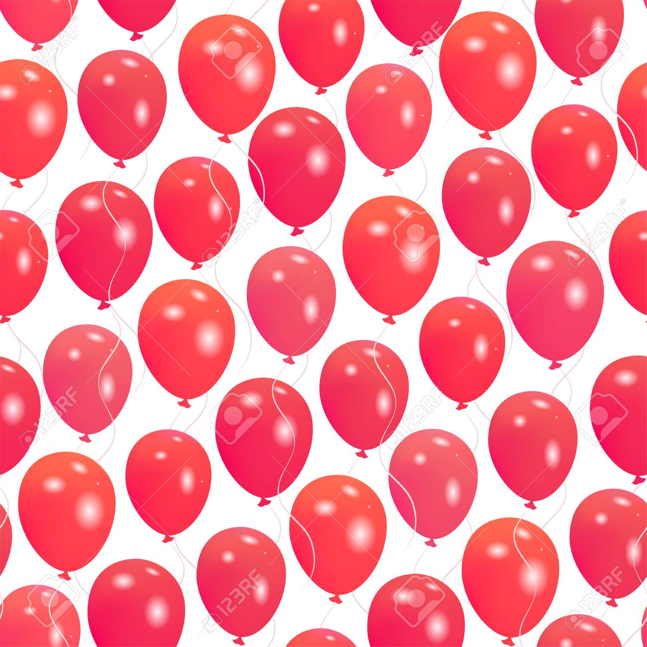 Seamless Pattern With Red Helium Balloons Happy Valentine S Day