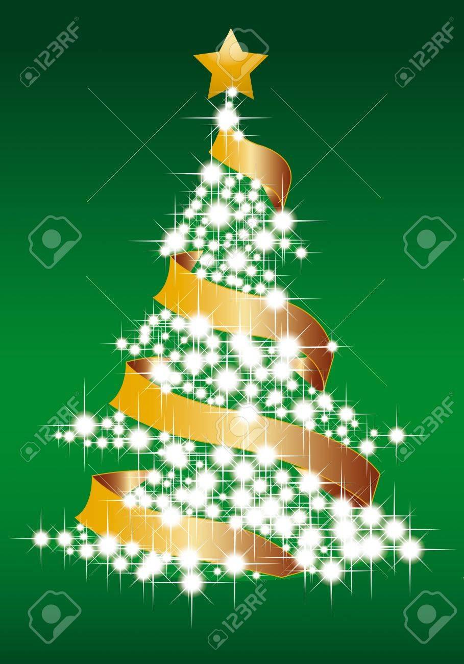 illustration of magic Xmas tree Stock Vector - 11152268