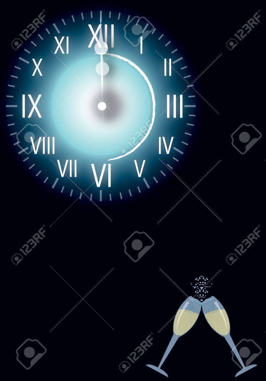 watch New Year Stock Vector - 11239722