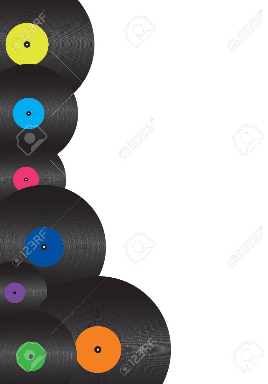 illustration of a discs on a white background Stock Illustration - 11716960
