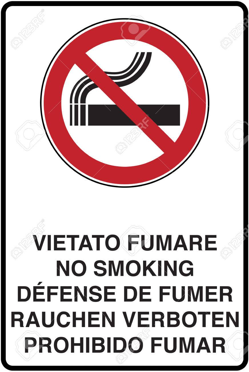 Graphic Illustration Of The Road Signage No Smoking Stock Photo