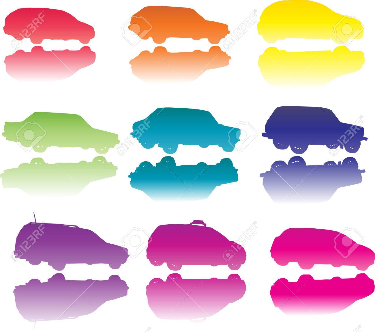Colorful cars Stock Vector - 5977638