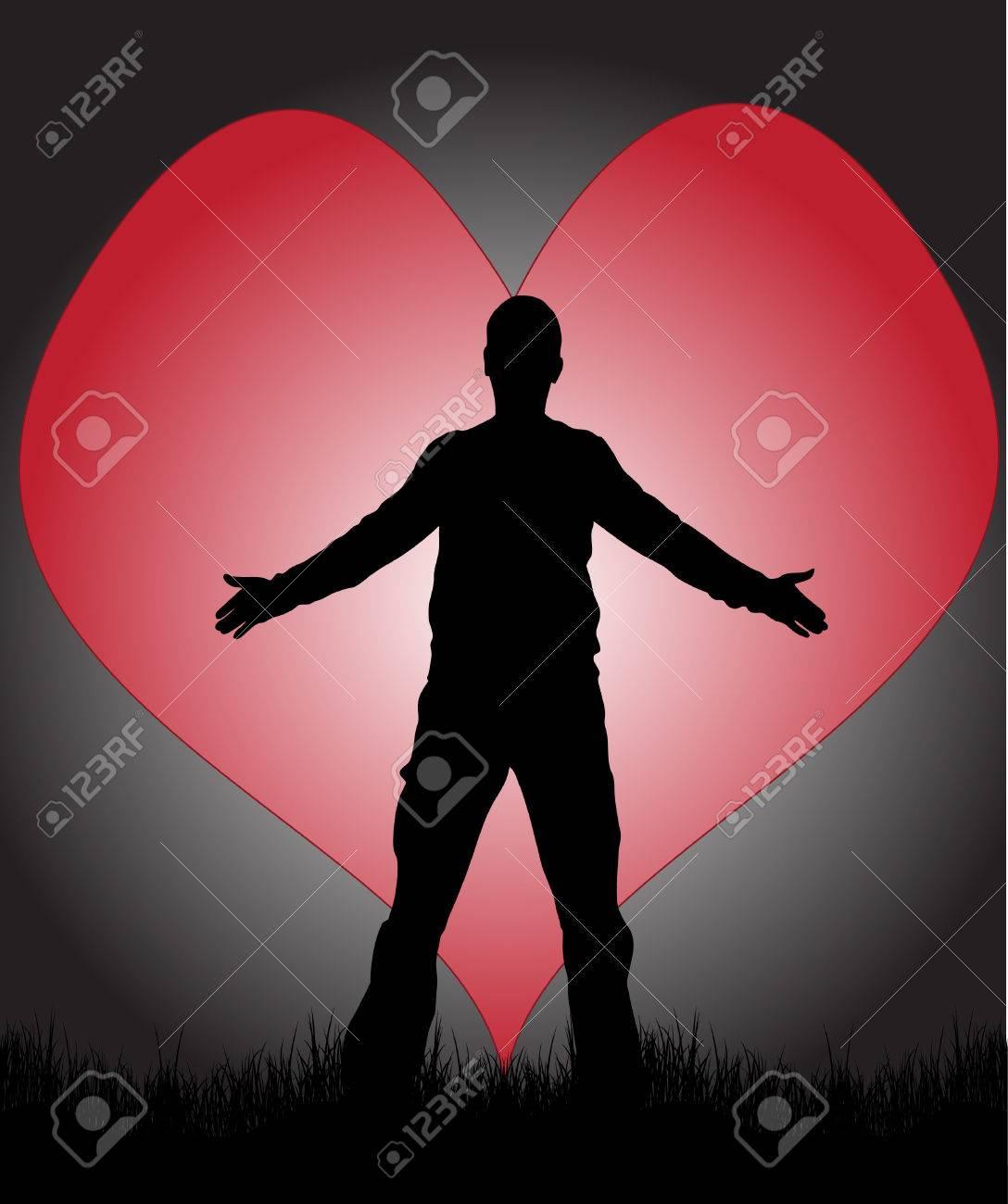 Man in love Stock Vector - 8536741