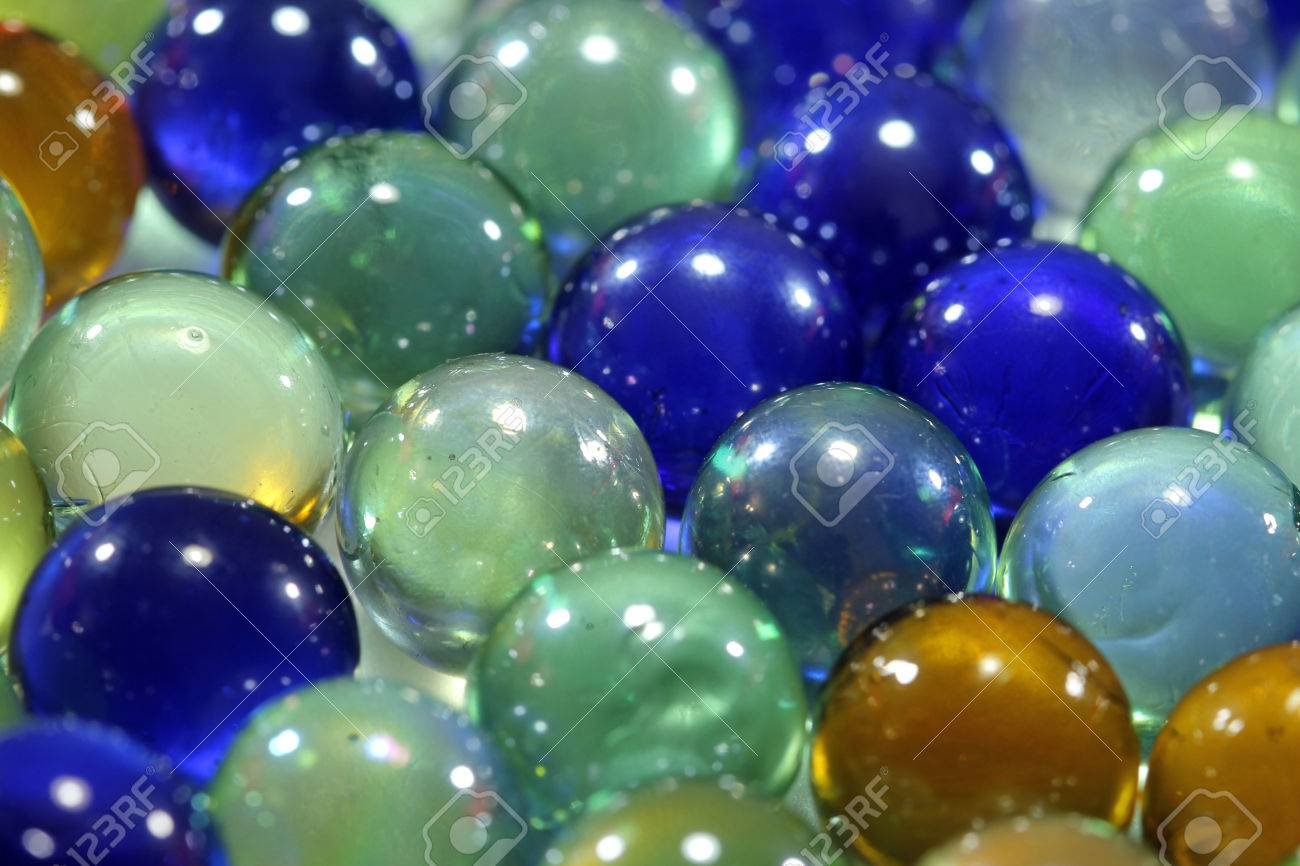 Close up of glass marbles background Stock Photo - 69713261