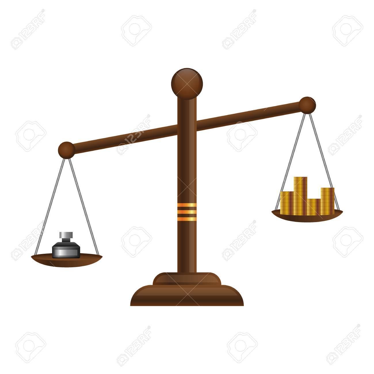 justice scales icon law balance symbol libra flat design with rh 123rf com