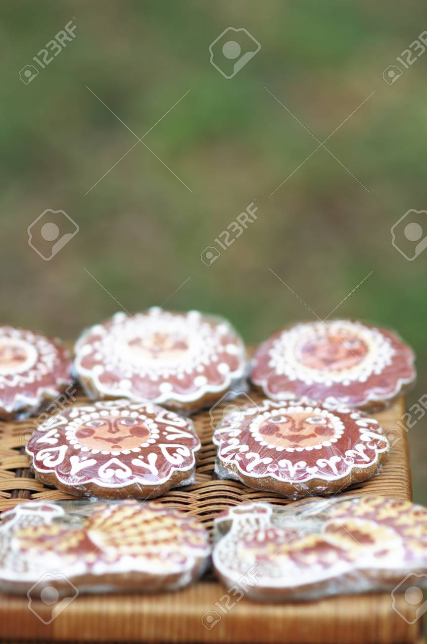 Colorful gingerbread arranged for sale Stock Photo - 10512005